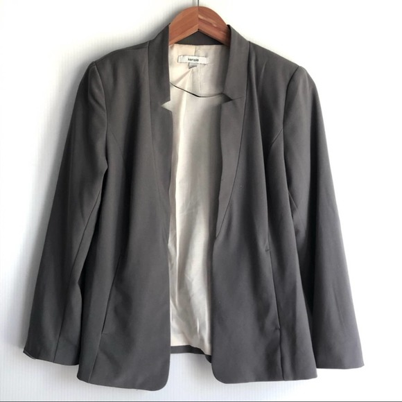 Kensie Brand Blazer Jacket ivory lining